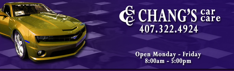 Chang's Car Care Banner